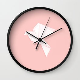 Origami dove Wall Clock