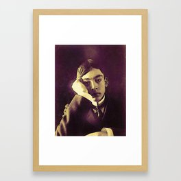 Khalil Gibran (author of The Prophet) in watercolor Framed Art Print