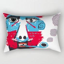Hombre con pipa Rectangular Pillow