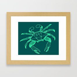 Green Crab Framed Art Print
