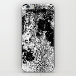 Black + White Full Moon, print by Christy Nyboer iPhone Skin