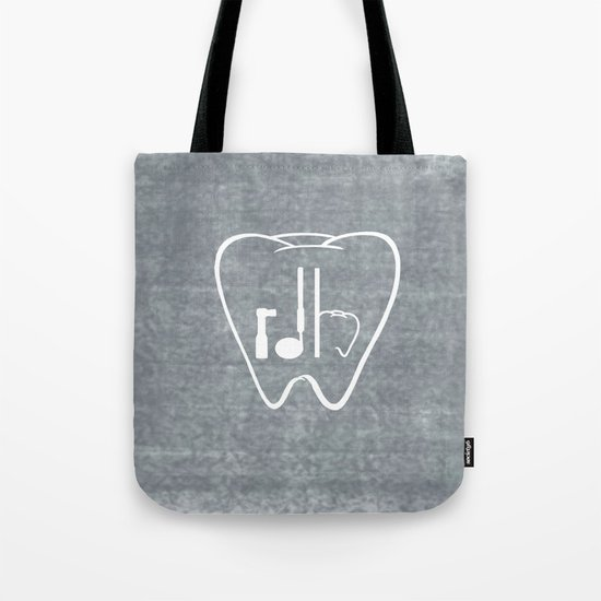rdh tooth tote bag by proboutique society6. Black Bedroom Furniture Sets. Home Design Ideas