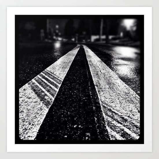 Wet asphalt. Art Print