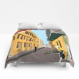 Cartagena de Indias, Colombia Travel Poster Comforters