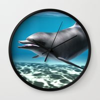 dolphin Wall Clocks featuring Dolphin by Design Windmill