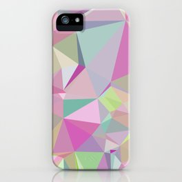 Colorful Triangles 3 iPhone Case
