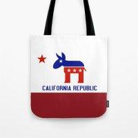 political Tote Bags featuring Political California Republic Democrat by NorCal