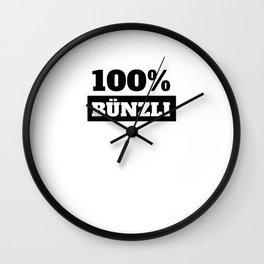 Bünzli Switzerland Gift German Wall Clock