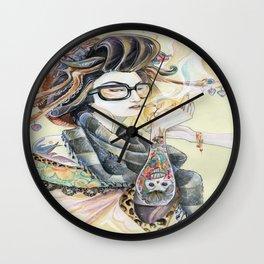 Hipster Oiran Wall Clock