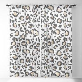 Leopard Animal Print Watercolour Painting Sheer Curtain
