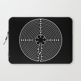 Cathedral of Our Lady of Chartres Labyrinth - Negative Laptop Sleeve
