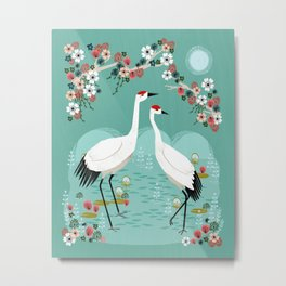 Cranes by Andrea Lauren Metal Print