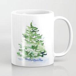 Watercolor Pine Tree Coffee Mug