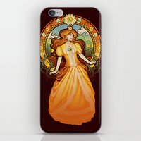 nouveau iPhone & iPod Skins featuring Daisy Nouveau by Megan Lara
