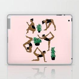 yoga with plants Laptop & iPad Skin