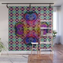 Four-leaved clover abstract ... Wall Mural