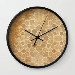 Vintage Giraffe Print (Color) Wall Clock