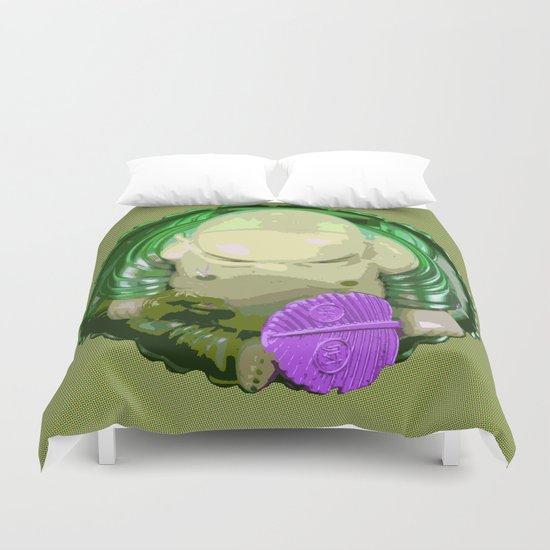 buddha [green] Duvet Cover