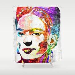 Frida Kahlo Grunge Shower Curtain
