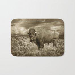 American Buffalo in Sepia Tone Bath Mat