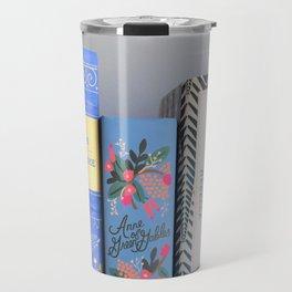 Shelfie in Blue Travel Mug