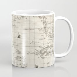 Vintage Map Print - 1646 map of the Gulf of Mexico by Robert Dudley Coffee Mug