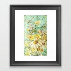 Boho Daisies and Buttercups Framed Art Print