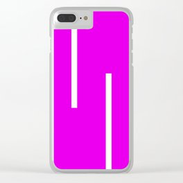 Abstract Retro Stripes Pinky Clear iPhone Case