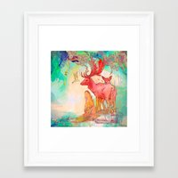 archan nair Framed Art Prints featuring Rebirth by Archan Nair