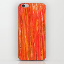 Color gradient and texture 40 coral iPhone Skin
