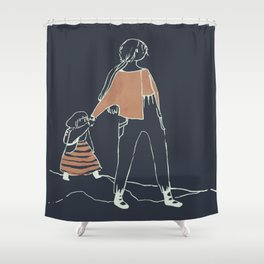 journey inverted Shower Curtain