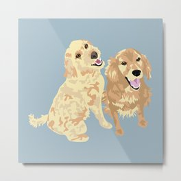 Libby and Apollo Metal Print