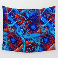 android Wall Tapestries featuring Android Fused Glass Fractal by BohemianBound
