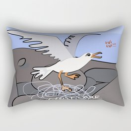 Trapped Seagull - Must Care Rectangular Pillow