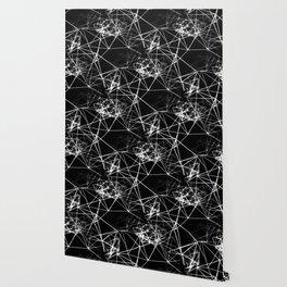 Geometric himmeli ornaments as minimal negative pattern Wallpaper