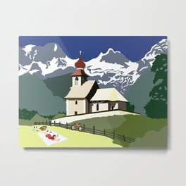 Auer Church Austrian Picnic Metal Print