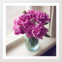 peony Art Prints featuring Peony by Jenny Ardell