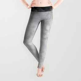 Snow Clouds in the Dark - Abstract Leggings