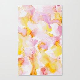 Funfetti in Rose and Buttercup Canvas Print