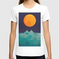 night T-shirts featuring The ocean, the sea, the wave - night scene by Picomodi