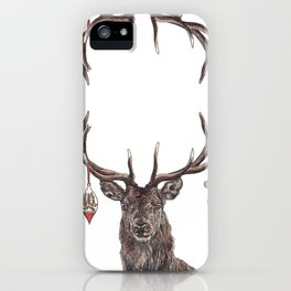 Stag with Baubles iPhone Case