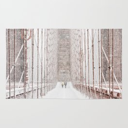 Brooklyn Bridge Snow Rug