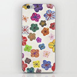 Floral art mille fiori iPhone Skin