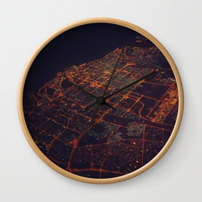 desert lights Wall Clock