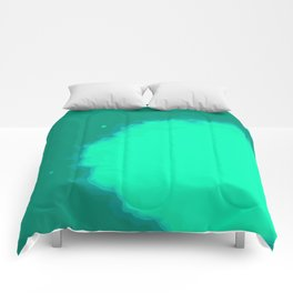 Splat on Teal - by Friztin Comforters