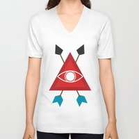 illuminati V-neck T-shirts featuring Illuminati by Lucas de Souza