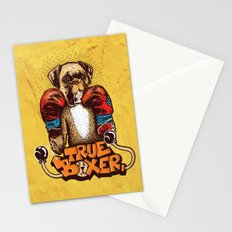 true boxer Stationery Cards