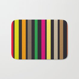 bold stripes and color Bath Mat