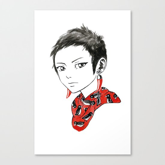 Paprika Girl Canvas Print