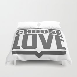 Choose Love Typography Duvet Cover